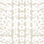 Triangle Tie Dye Pattern. Shibori Seamless Background. Geometric China Ink Natural Print. Organic Ve poster