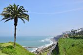 View Of The Coastline In Miraflores In The South Of Lima, Peru poster