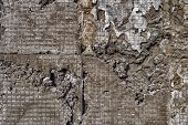 Grunge Cemented Wall. Cement Plaster. Rough Cement Plaster Wall Background poster