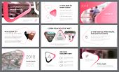 Yellow And Black Pink And White Infographic Design Elements For Presentation Slide Templates. Busine poster