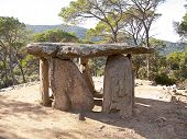 A very old dolmen situated in a place near Barcelona (Spain)