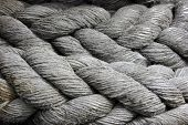 Ships Mooring Cable Or Hawser