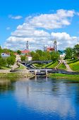 Beautiful View Of Historical Center Of Vitebsk At Confluence Of Rivers Of Western Dvina And Vitba, B poster