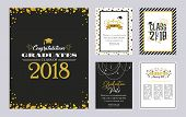 Graduation Class Of 2018 Greeting Card And Invitation Template. Vector Party Invitation. Grad Poster poster