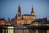 An image of the famous Hofkirche in Dresden Germany