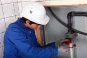 plumber at work