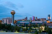 stock photo of knoxville tennessee  - The city of Knoxville Tennessee at dusk - JPG