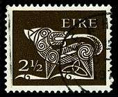 IRELAND-CIRCA 1971: A stamp printed in IRELAND shows image of