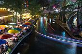 SAN ANTONIO, TX - AUG 13: The San Antonio River Walk in San Antonio, Texas on August 13, 2011. The Walk is 5 miles along the San Antonio River. Over 20 events take place on the River Walk every year.