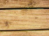 The Sill Wet Hard Wood Board With Weathering Resists Surface. Wooden Floor Of Beach Pier,  Floor Pla poster