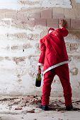 Staggering Drunken Santa