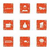 Contemporary Build Icons Set. Grunge Set Of 9 Contemporary Build Vector Icons For Web Isolated On Wh poster