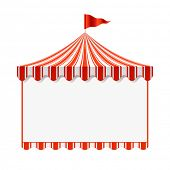 Circus advertisement background. Vector.