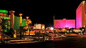 LAS VEGAS, US - OCTOBER 11: Las Vegas Strip at night on October 11, 2011 in Las Vegas, US. 19 of the