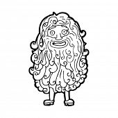 cartoon hairy beard man