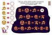Mathematical Logic Puzzle Game For Children And Adults. Can You Count What Number Corresponds To Eac poster