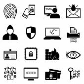 Cybersecurity, Online Safety, Malware Web Icon Set poster