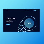 Landing Page Design. Tech Landing Page. Hero Section Page poster