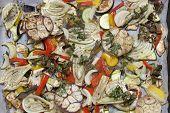 Forno cozer legumes de Verão