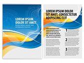 vector business brochure, flyer template