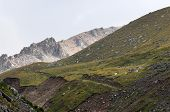 picture of lithosphere  - mountains The mountains of the Tien Shan - JPG