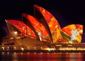 Sydney Opera House Illuminated During Vivid Sydney Festival