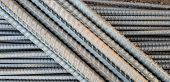 Steel Bars With Rust Close- Up Background,steel Reinforcement Folded On The Construction Site.the Te poster