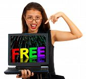 Free On Computer Showing Freebies And Promotions Online