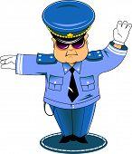 Traffic Cop In Blue