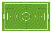Green football field vector template
