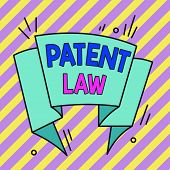 Conceptual Hand Writing Showing Patent Law. Business Photo Text Deals With An Inventor S Is Exclusiv poster