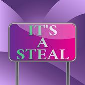 Handwriting Text Writing It S A Steal. Concept Meaning Getting Confidential Informations Cyber Breac poster
