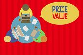 Writing Note Showing Price Value. Business Photo Showcasing The Price Of A Product Based On What Cus poster