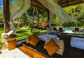 Nusa Dua resort in Bali Indonesia - nature vacation background poster