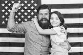 Freedom Fundamental Right. How Do Americans Celebrate Independence Day. Father American Bearded Hips poster