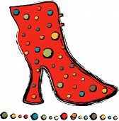 Red Polka Boot