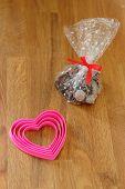 Chocolate pralines for Valentine's Day