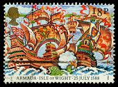 Britain Spanish Armada Postage Stamp
