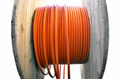Cable Drum With Orange Cable