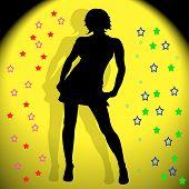Silhouette Dancing Girl