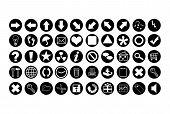 Aqua Black Icons