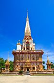 Pagoda In Chaitharam Temple in Phuket Province, Thailand