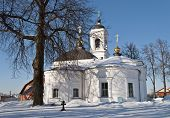 Orthodox Church In Winter Time