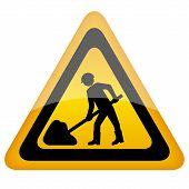 Постер, плакат: Желтый вектор рабочей знак