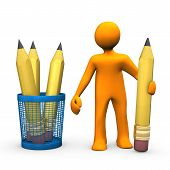 Pencils Manikin