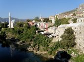 picture of breakup  - Mostar was one of the most ethnically diverse cities in Bosnia but today suffers geographical division of ethnic groups - JPG