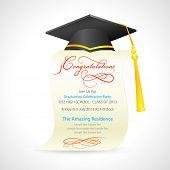 Mortar Board on graduation Certificate