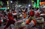 Drummers performing during the Tet New Lunar Year Festival in Saigon, Vietnam