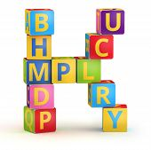 pic of letter k  - Letter K from ABC cubes for kid spell education - JPG