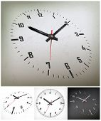 pic of arabic numerals  - round dial with arabic numerals on gray background vector illustration - JPG